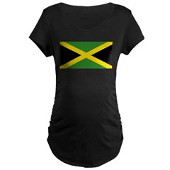 Jamaican Flag Maternity Dark T-Shirt