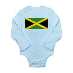 Jamaican Flag Long Sleeve Infant Bodysuit