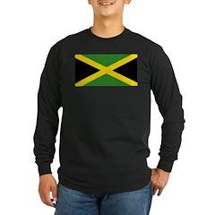 Jamaican Flag Long Sleeve Dark T-Shirt