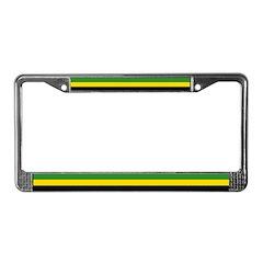 Jamaican Flag License Plate Frame