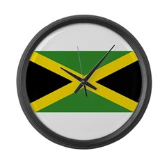 Jamaican Flag Large Wall Clock