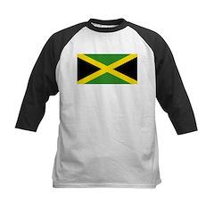 Jamaican Flag Kids Baseball Jersey
