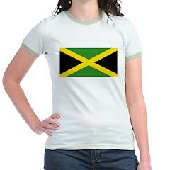 Jamaican Flag Jr. Ringer T-Shirt