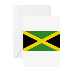 Jamaican Flag Greeting Cards (Pk of 10)