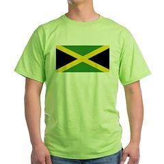 Jamaican Flag Green T-Shirt