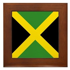 Jamaican Flag Framed Tile