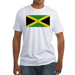 Jamaican Flag Fitted T-Shirt