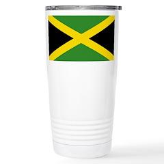 Jamaican Flag Stainless Steel Travel Mug