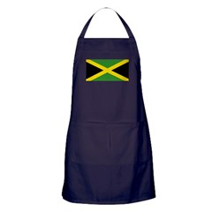 Jamaican Flag Apron (dark)