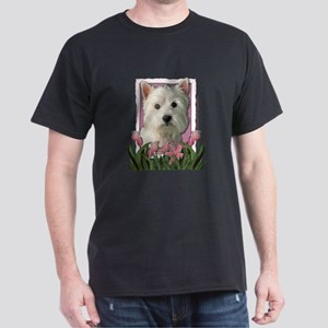 Mothers Day - Pink Tulips Dark T-Shirt
