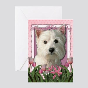 Mothers Day - Pink Tulips Greeting Card