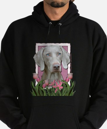 Mothers Day - Pink Tulips Hoodie (dark)