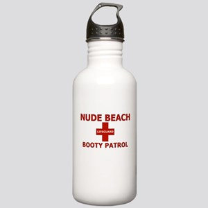 Nude Beach Lifeguard Stainless Water Bottle 1.0L