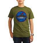 USS AUGUSTA Organic Men's T-Shirt (dark)