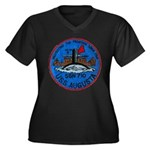 USS AUGUSTA Women's Plus Size V-Neck Dark T-Shirt