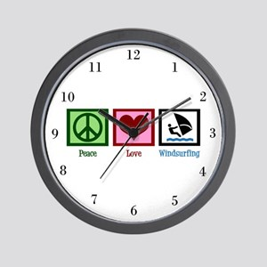 Peace Love Wrestling Wall Clock