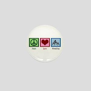 Peace Love Wrestling Mini Button