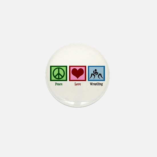 Peace Love Wrestling Mini Button