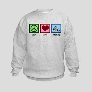Peace Love Wrestling Kids Sweatshirt