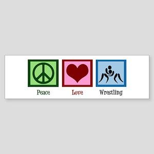 Peace Love Wrestling Sticker (Bumper)