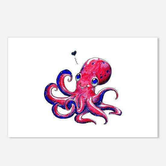 Squid Love Postcards (Package of 8)