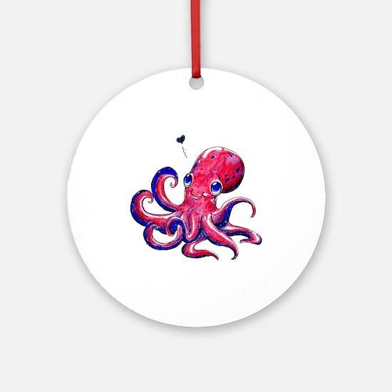Squid Love Ornament (Round)