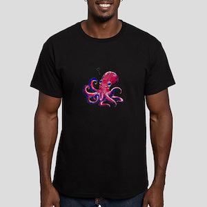 Squid Love Men's Fitted T-Shirt (dark)