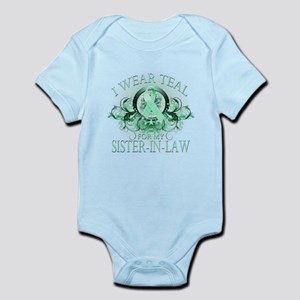 I Wear Teal for my Sister In Law (floral) Infant B