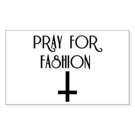 Pray for Fashion Sticker (Rectangle 10 pk)