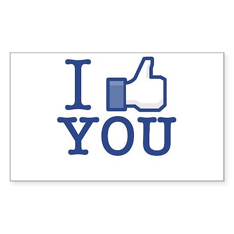 I Like You Sticker (Rectangle 10 pk)