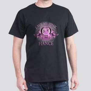 I Wear Pink for my Fiance (floral) Dark T-Shirt