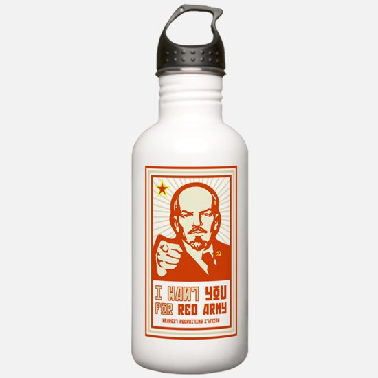 Soviet Red Army I Want You Water Bottle