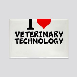 I Love Veterinary Technology Magnets