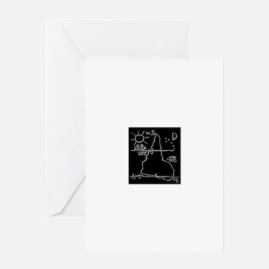 Earth Upside Down Greeting Card