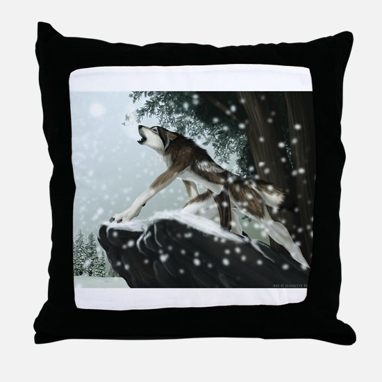 Unique Howling wolf Throw Pillow