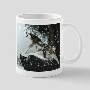 tree wolf Mugs