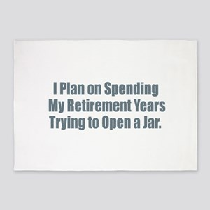 Retirement Open a Jar 5'x7'Area Rug