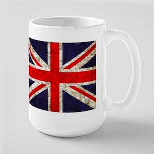 Grunge UK Flag Large Mug