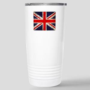 Grunge UK Flag Stainless Steel Travel Mug
