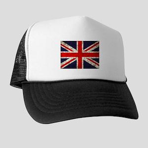 Grunge UK Flag Trucker Hat