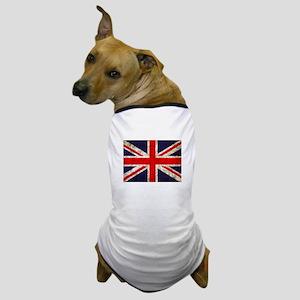Grunge UK Flag Dog T-Shirt