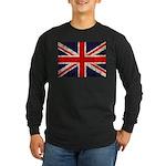 Grunge UK Flag Long Sleeve Dark T-Shirt