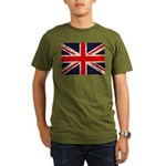 Grunge UK Flag Organic Men's T-Shirt (dark)