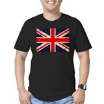 Grunge UK Flag Men's Fitted T-Shirt (dark)