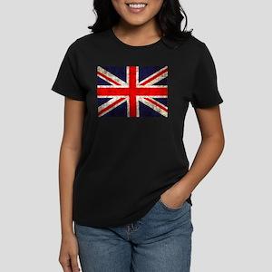 Grunge UK Flag Women's Dark T-Shirt