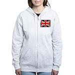 Grunge UK Flag Women's Zip Hoodie