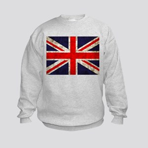Grunge UK Flag Kids Sweatshirt