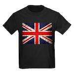 Grunge UK Flag Kids Dark T-Shirt