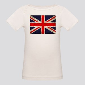 Grunge UK Flag Organic Baby T-Shirt