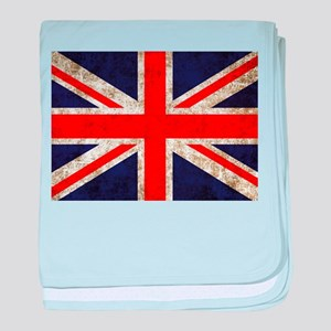 Grunge UK Flag baby blanket